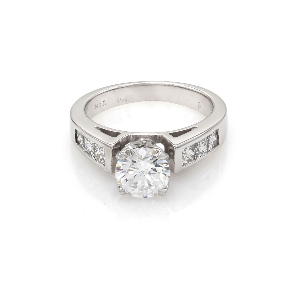 Diamond Engagement Ring Mounting in Gold