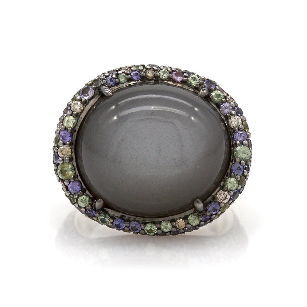 John Hardy Colorway Moonstone and Sapphire Ring in Gold