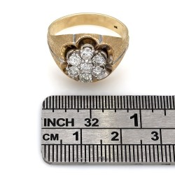 Gents Diamond Cluster Ring in Gold
