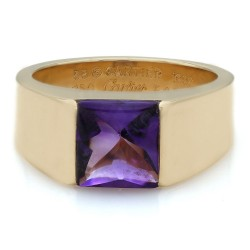 Cartier Tank Ring with Amethyst