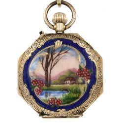 Vintage Enamel Pocket Watch